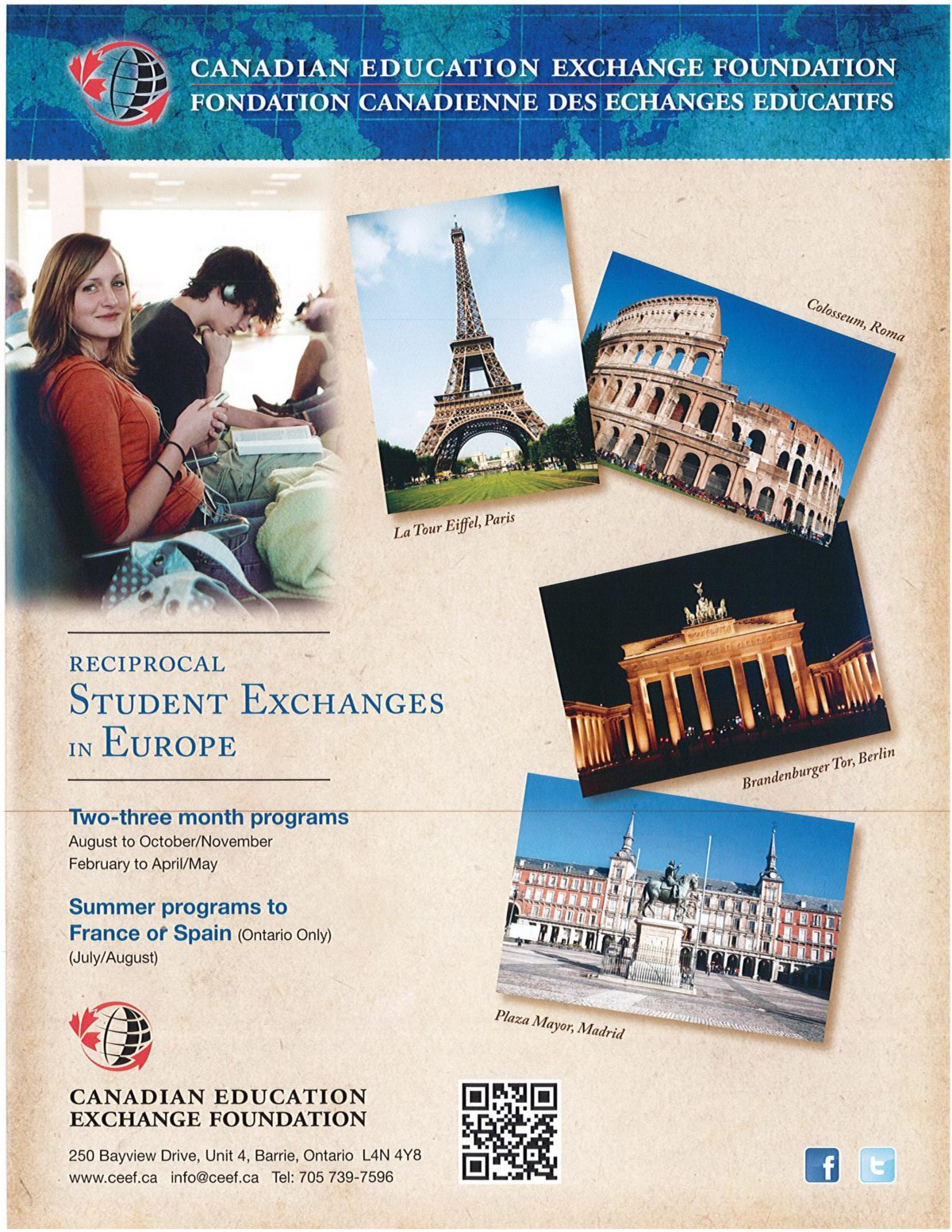 Student Exchange Programs ~ Fall 2019 to Summer 2020