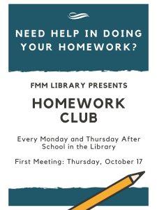Welcome to FMM's Homework Club
