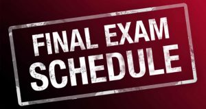 EXAM SCHEDULE … now available!