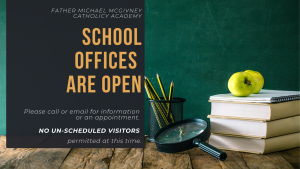 SCHOOL OFFICES Re-Open ~ Mon Aug 24th