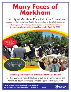 POSTER CONTEST ~ The Many Faces of Markham