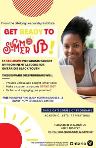 The SUMMER UP Program for Black Youth (July 2021)
