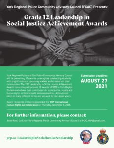YRP Social Justice Achievement Awards 2021