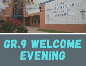 Gr9 Welcome Evening (including SLIDES)