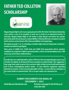 Fr. Ted Colleton Scholarship Awards
